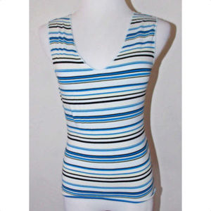 The Limited Stretch Small Tank Top Striped V Neck